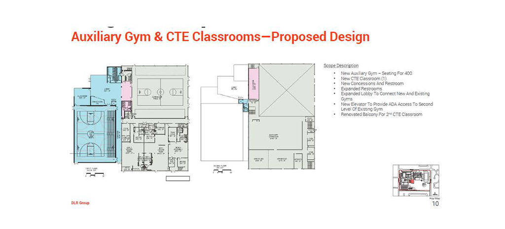 Auxiliary Gym & CTE Classrooms - Proposed Design